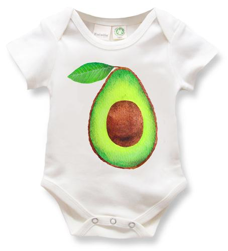 Organic Baby One-piece, avocado