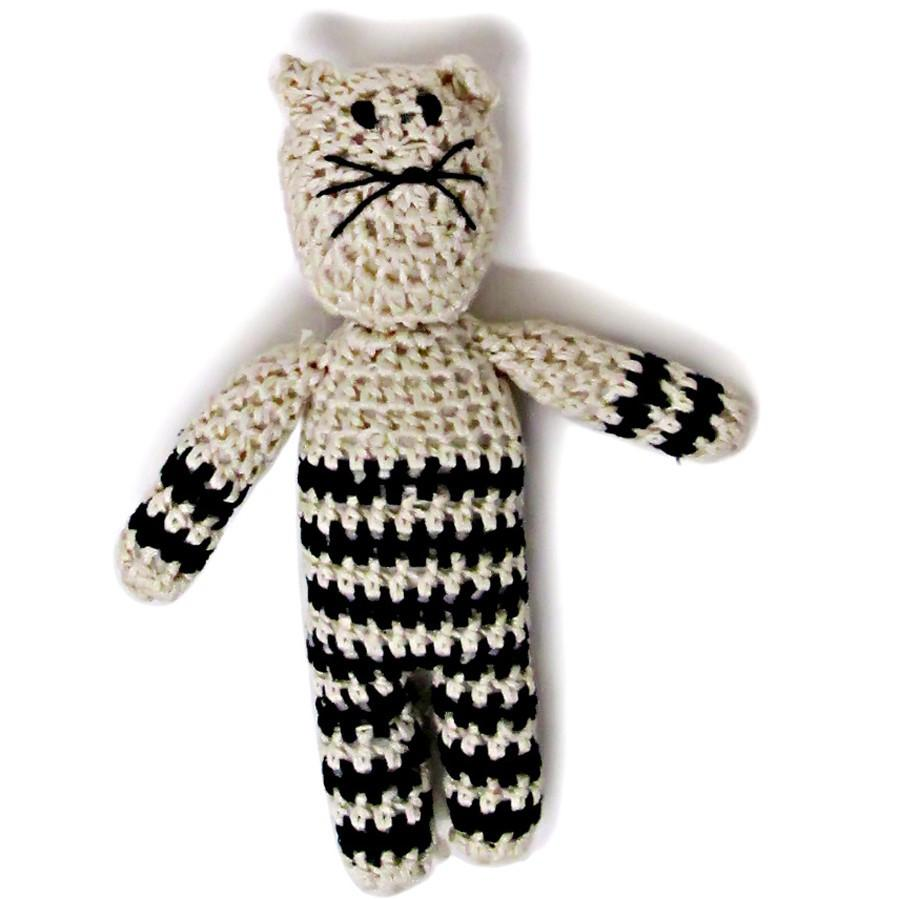 Organic Kitty Rattle Baby Toy
