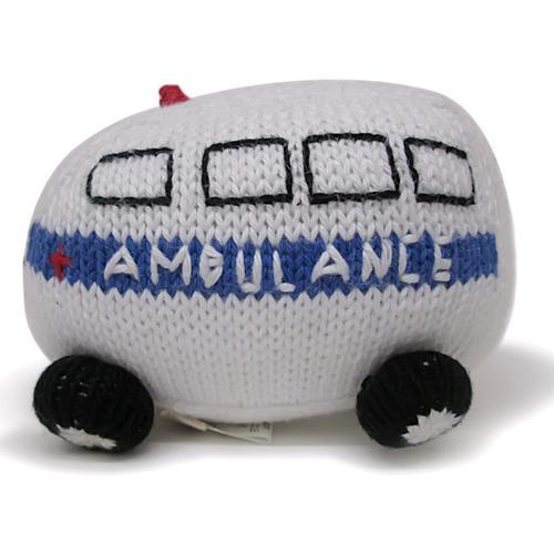 Organic Ambulance Rattle Baby Toy