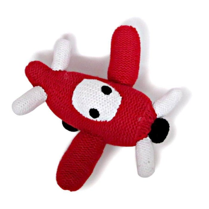 Organic Airplane Rattle Baby Toy