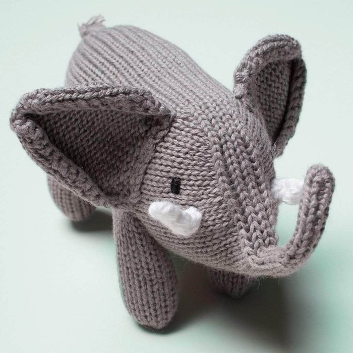 Organic Elephant Rattle Baby Toy