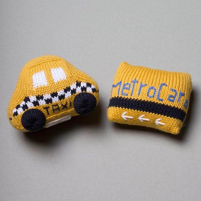 Organic Baby Toys Gift Set - Taxi & MetroCard Rattles
