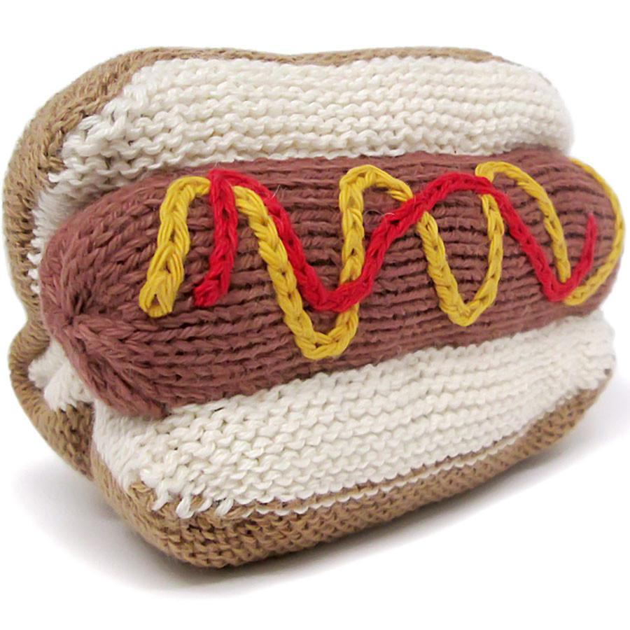 Organic Hot Dog Rattle Baby Toy