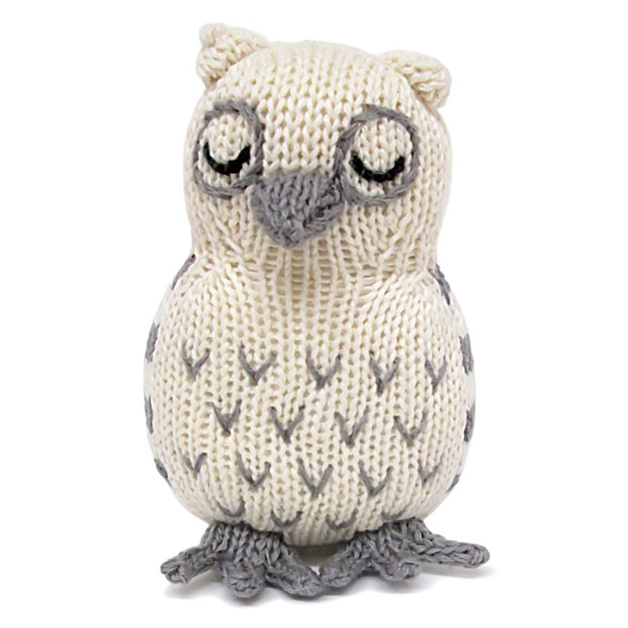 Organic Owl Rattle - Baby Toys
