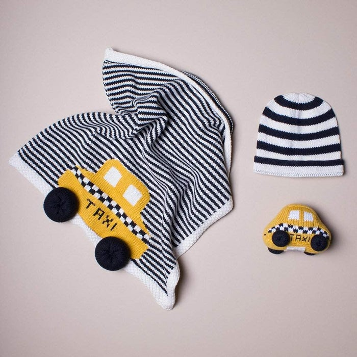 Organic Taxi Blanket Baby Gift Set