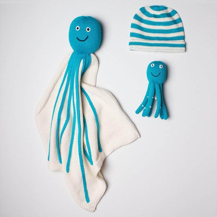 Organic Octopus Baby Gift Set