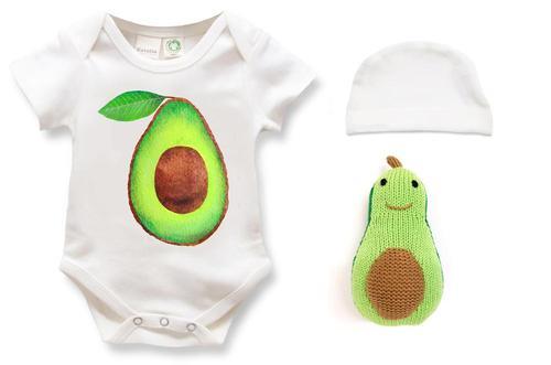Estella Organic Cotton Baby Gift Set - Avocado 0–3, 3–6, 6–12, 12–18M