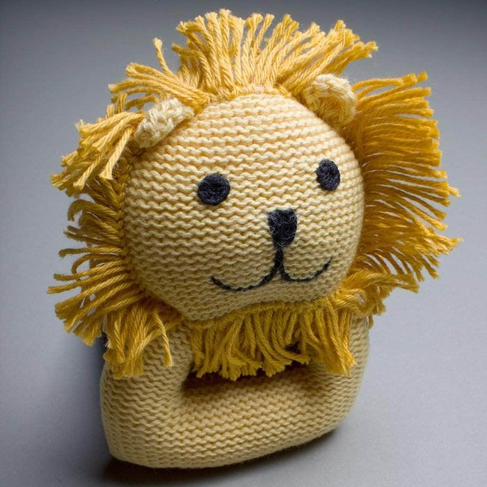 Organic Lion Rattle Baby Toy
