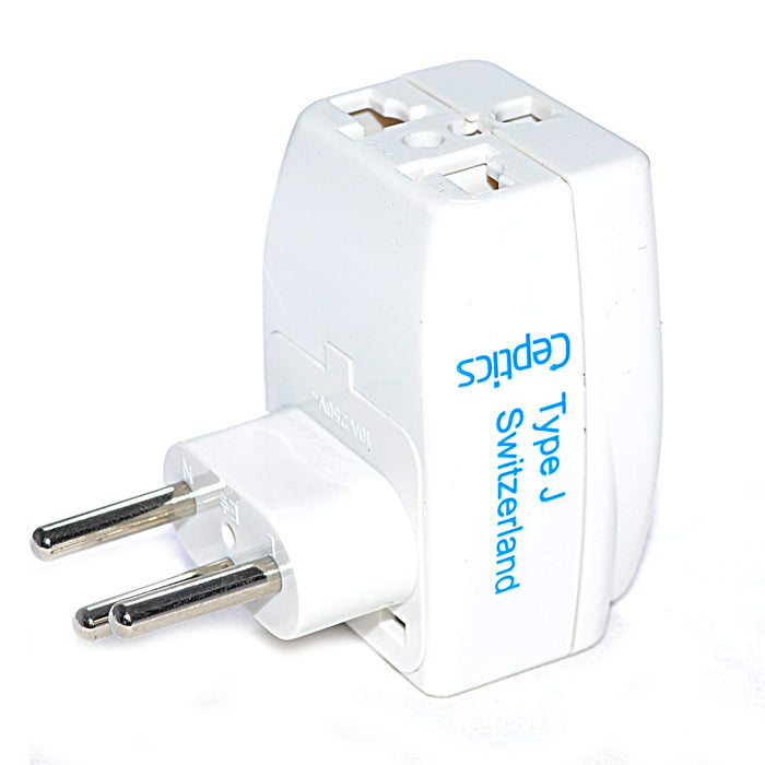 Switzerland Travel Adapter - Type J - 3 in 1 (GP3-11A)