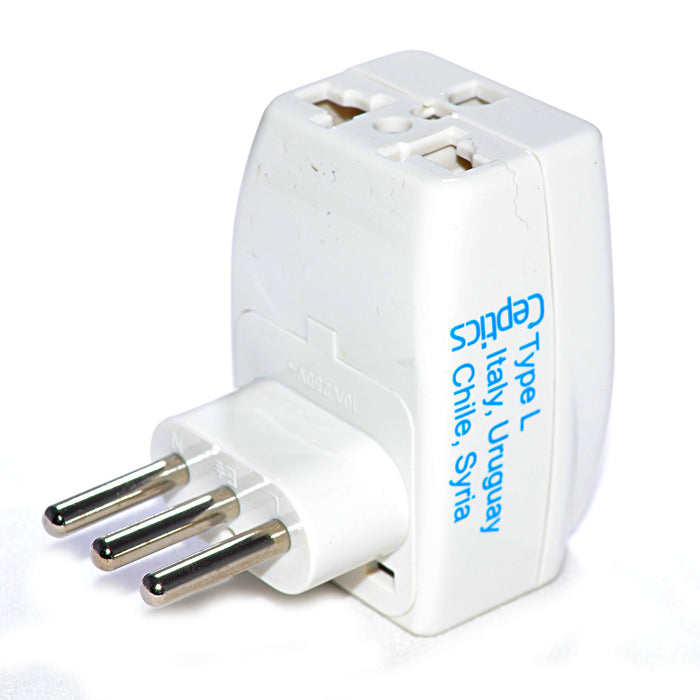 Italy Travel Adapter - Type L - 3 in 1 (GP3-12A)