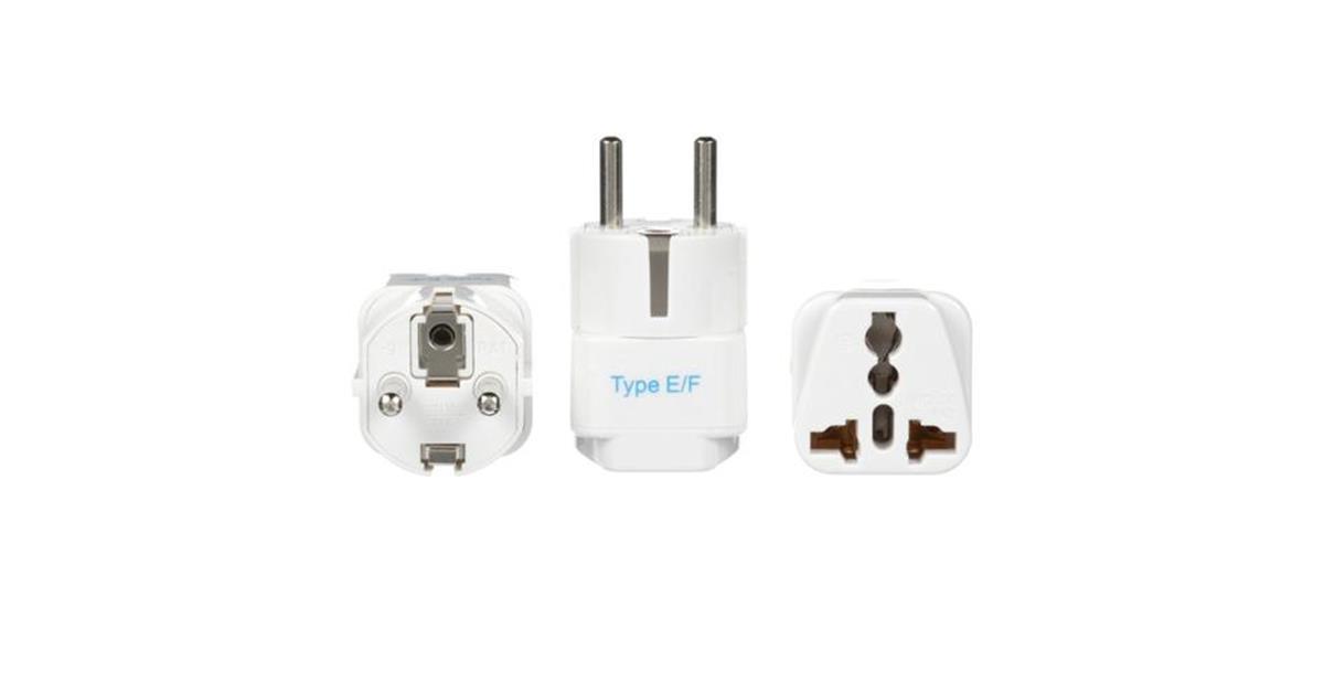 European (Schuko) Travel Adapter - Type E/F - 3 Pack (GP-9)