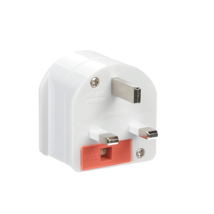Ceptics South Africa to UK Type G Travel Plug Adapter (Grounded)