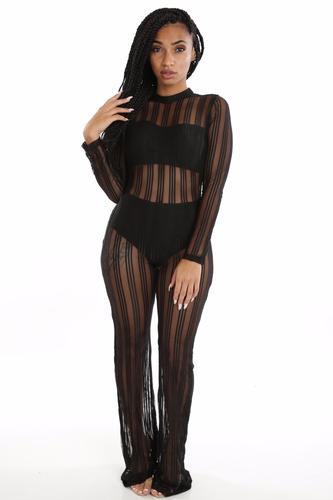 704e88dd8d50 Striped Sheer Jumpsuit