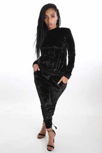 ad8d6e1e203b Black Velvet Jogger Set