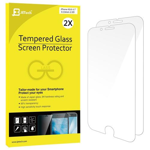iPhone 6 6s Screen Protector JETech 2-Pack Premium Tempered Glass Screen Protector Film for Apple iPhone 6 and iPhone 6s 4.7 Clear