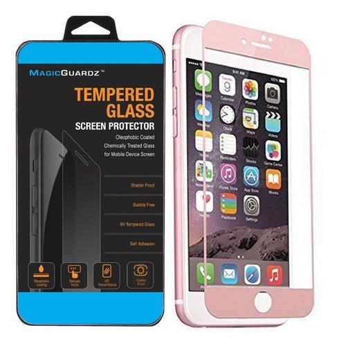 """MagicGuardz Made for Apple 4.7"""" iPhone 7 3D Full Cover Tempered Glass Carbon Fiber Screen Protector (Rose Gold) Rose Gold"""
