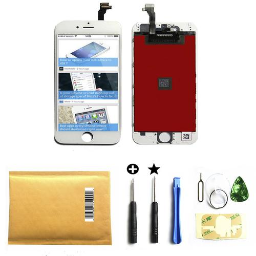 White iphone 6 4.7 inch Retina LCD Touch Screen Digitizer Glass Replacement Full Assembly with repair kit 6 white