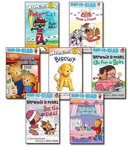 7 Leveled Books at Guided Reading A-F / DRA 1-10 (set #naf4)