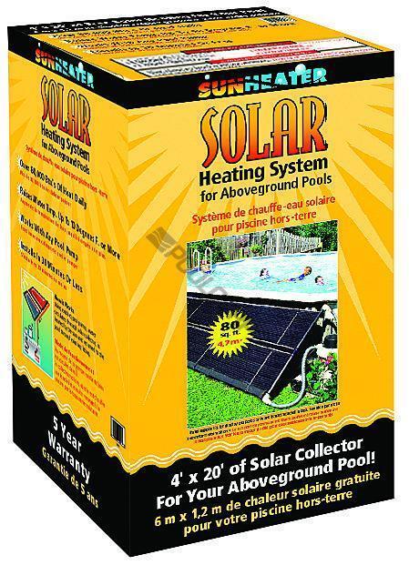 SUNHEATER SOLAR HEATING SYS 80 SQFT Above Ground Pool