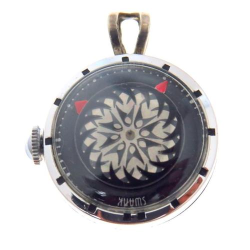 Cocktail Pendant Watch Kaleidoscopic Mystery Dial