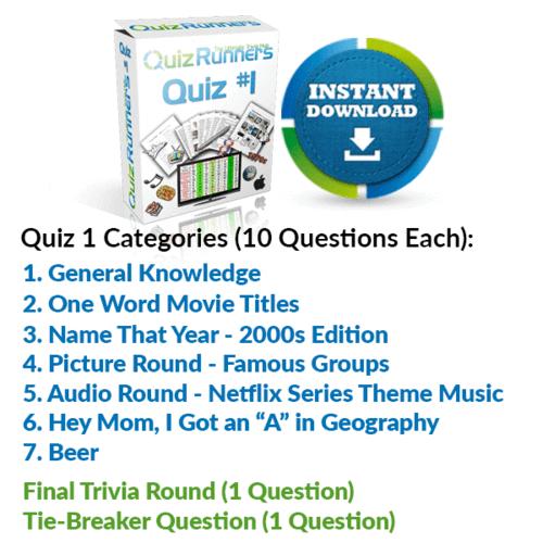 Quiz Night Kit 1