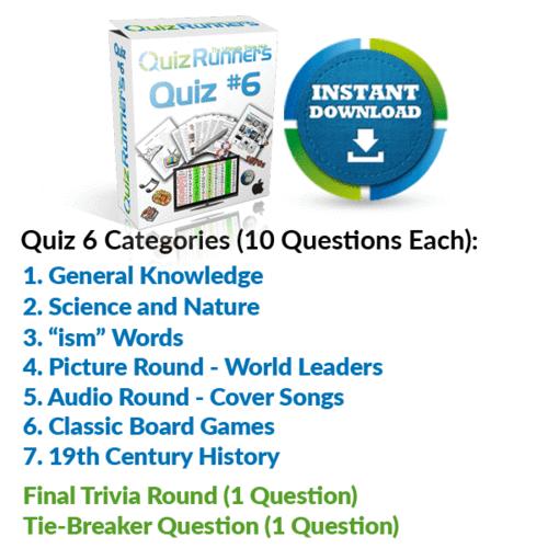 Quiz Night Kit 6
