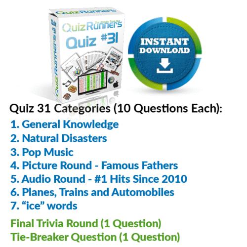 Quiz Night Kit 31
