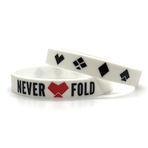 Never Fold Baller Band | White
