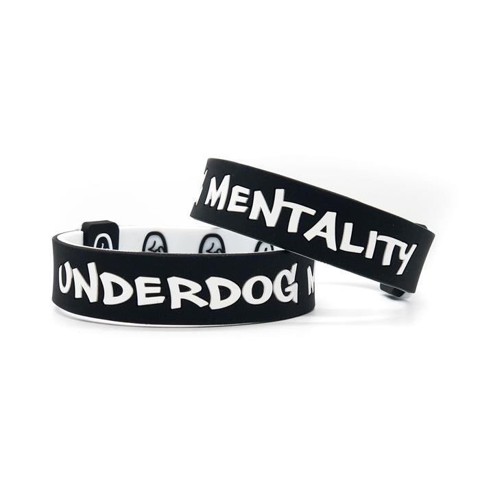 """Underdog Mentality"" Legacy Wristband   Black/White"
