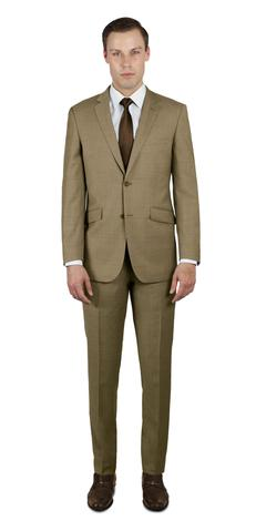 TAN TWO BUTTON 100% WOOL SUIT