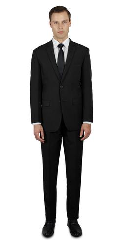 BLACK TWO BUTTON TR SUIT