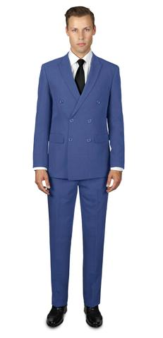 FRENCH BLUE DOUBLE BREASTED SUIT