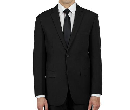 BLACK TWO BUTTON JACKET TR