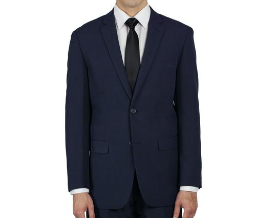 NAVY BLUE TWO BUTTON JACKET TR