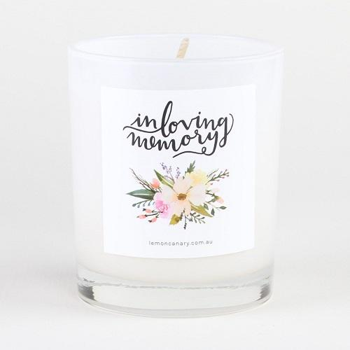 Lemon Canary candle. In loving memory (vintage gardenia)