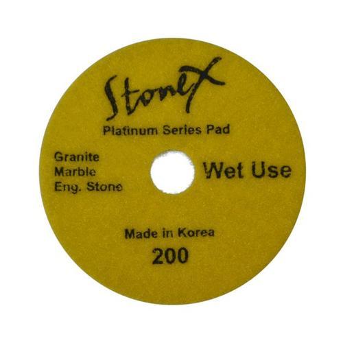 "Stonex Wet Dark Face Flexible Polishing Pads - Platinum Series - 100mm / 4"""