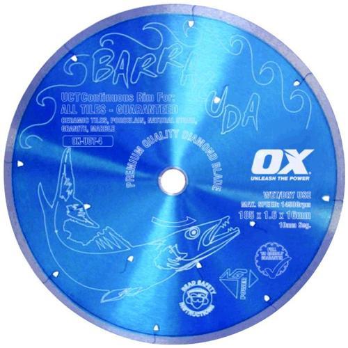 OX BARRACUDA UCT Continuous Rim Diamond Blade
