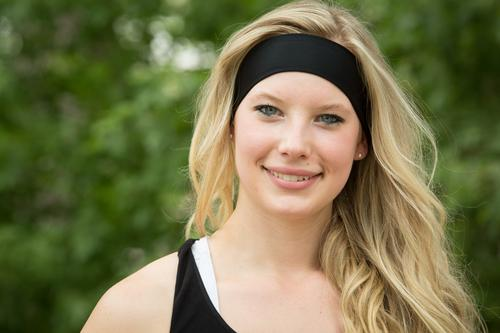 Image result for images black headband blond hair smiling