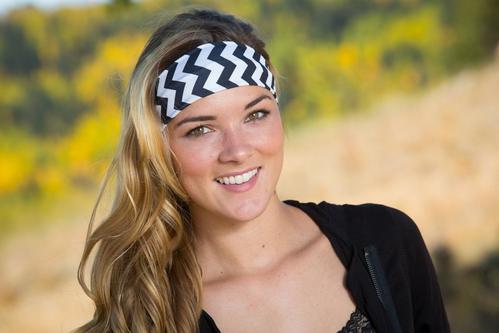 Black & White Chevron Headband