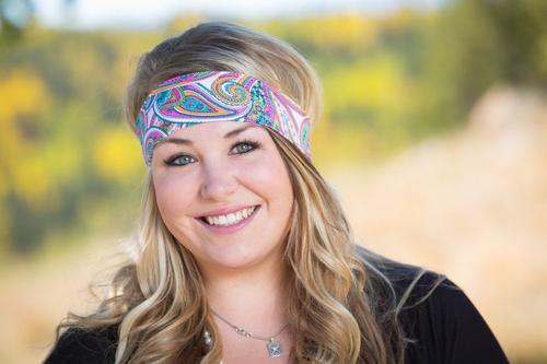 Pink Paisley Headband
