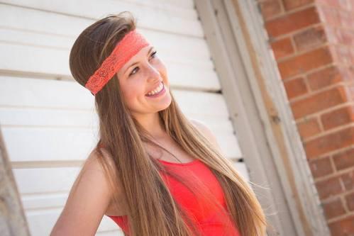 Coral Cutie Lacy Headband