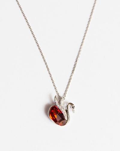 Iconic Swan Ruby Necklace