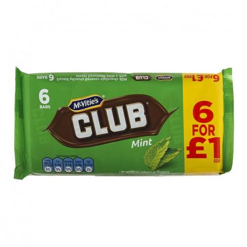 McVities Club Mint Biscuits