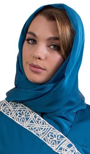 Shimmer Chiffon Shayla Hijab Scarf - Turquoise Blue