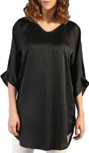Lila Silky Loose Formal Tunic - Black