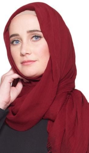 Celebrity Lightweight Non-Slip Extra Large Wrap Hijab - Crimson