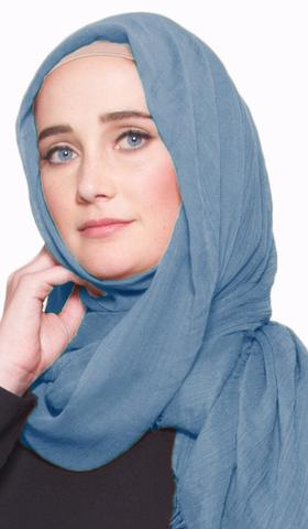 Celebrity Lightweight Non-Slip Extra Large Wrap Hijab - Ocean Blue