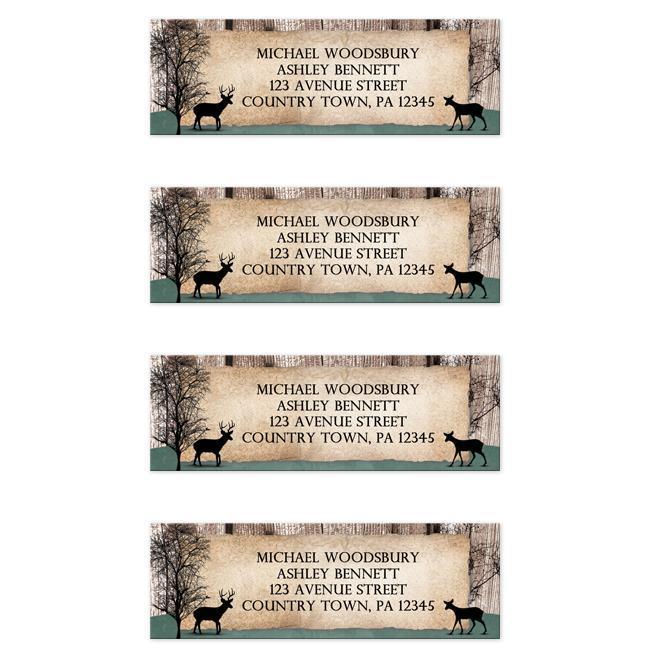 Rustic Deer Woodsy Address Labels