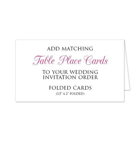 Table Place Cards Add-on to match your Wedding Order