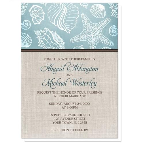 Wedding Invitations - Rustic Beach Linen